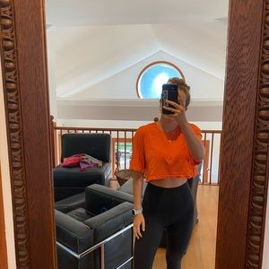 Reformation bright Orange t shirt
